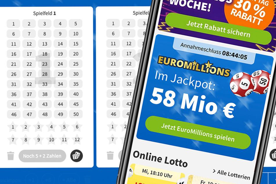 58 Mio. im Jackpot bei EuroMillions: Für 1 Euro könnt Ihr mitspielen