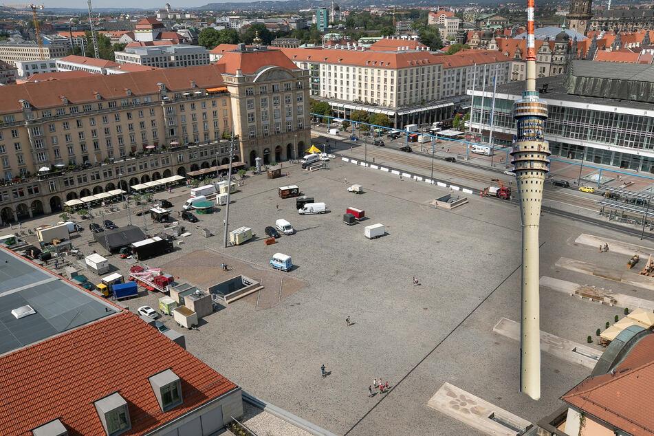 Dresden: Verrückte Idee: Wird der Dresdner Fernsehturm auf den Altmarkt umziehen?