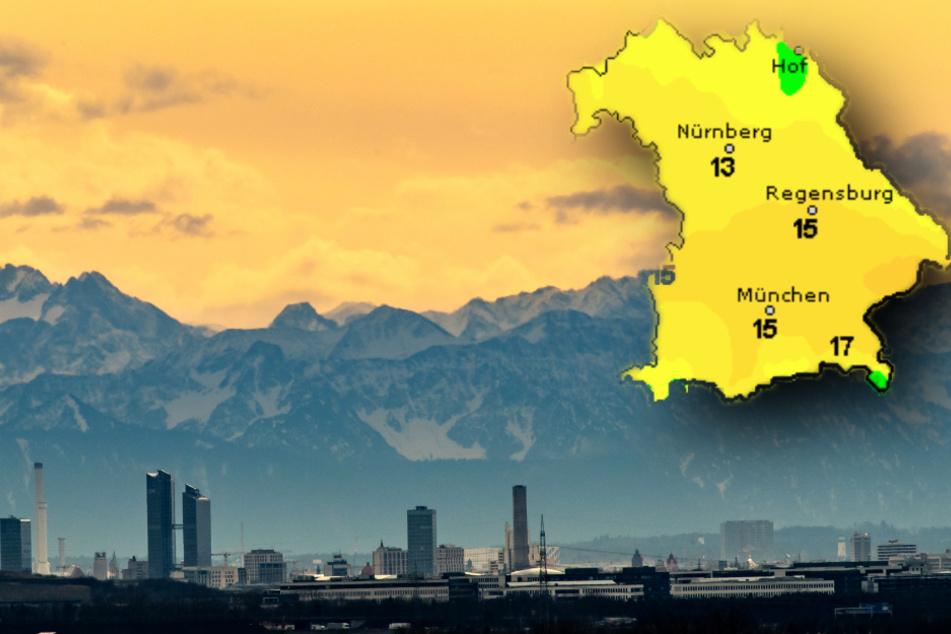 Fast 20 Grad! So wird das Wetter in Bayern