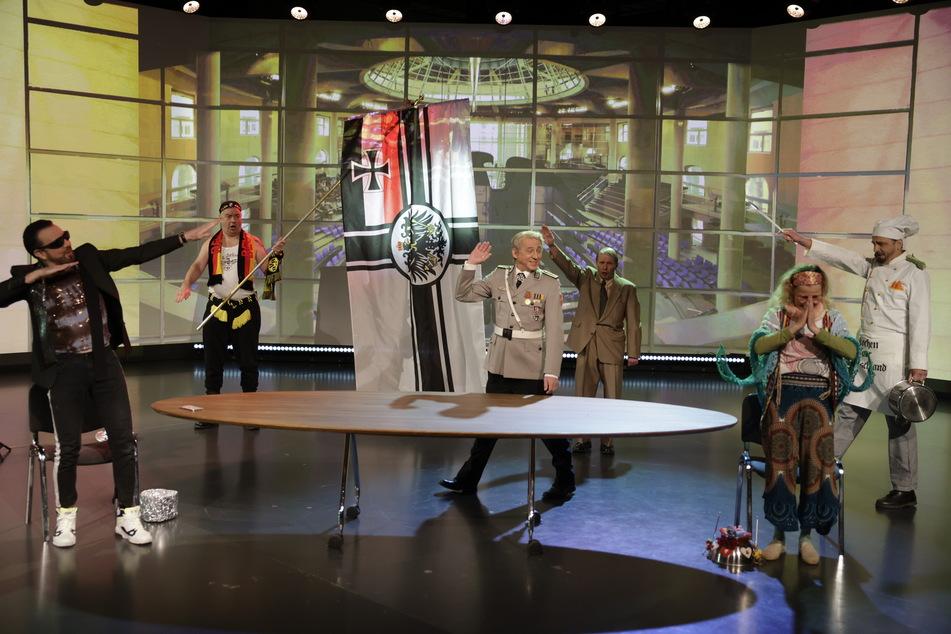 Im TV: Karnevalisten fackeln mit Wendler und Hildmann den Reichstag ab