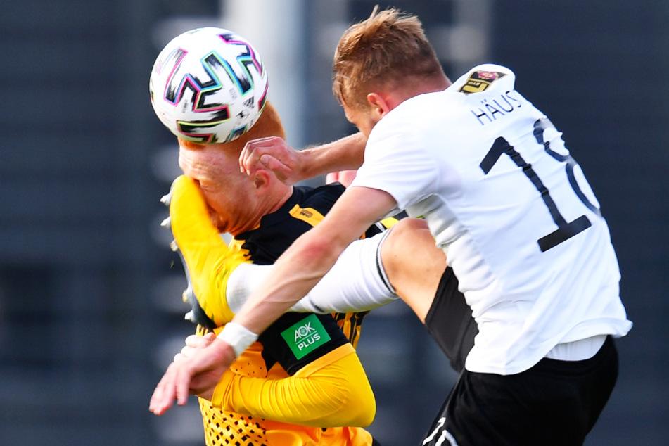 Ex-Bayern-Spieler Paul Will zeigte in Dresden bereits seine Nehmer-Qualitäten. Im Test gegen Köge brach er sich bei dieser Aktion das Nasenbein. Keine zwei Wochen später stand er im Pokal gegen den HSV auf dem Platz.