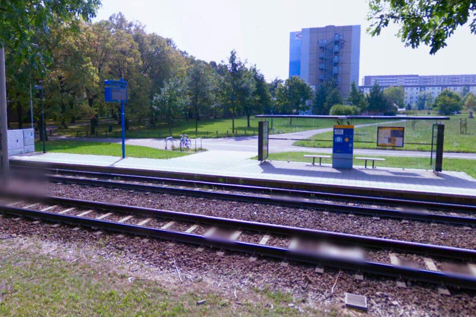 """Die Tat ereignete sich an der Haltestelle """"Parkallee"""" in der Lützner Straße."""