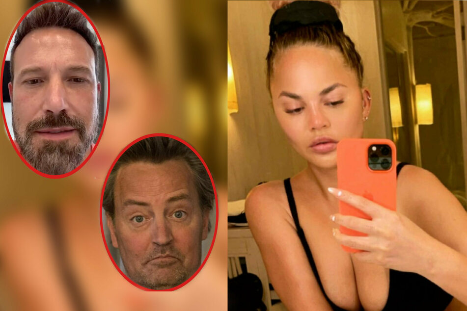 Chrissy Teigen called out Ben Affleck and Matthew Perry for using the dating app Raya.