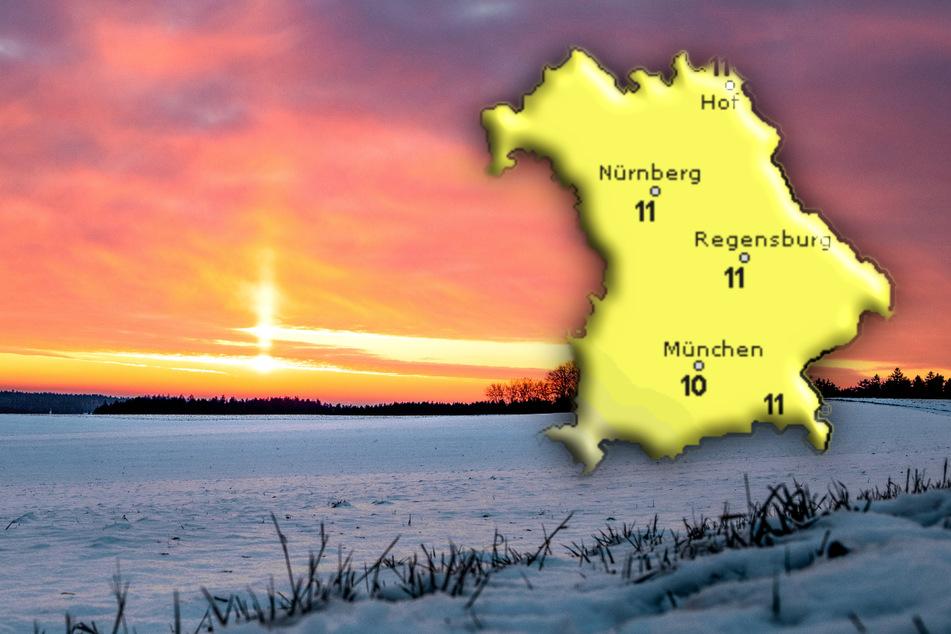 Sonne und Schnee! So wird das Wetter am Wochenende in Bayern