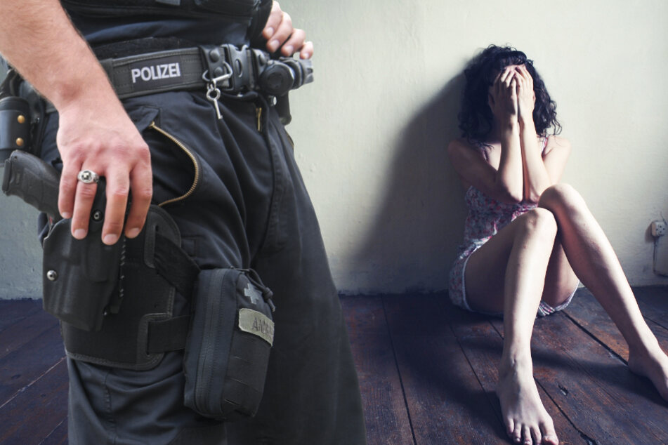 Die Polizei traf das völlig verstörte Opfer am Tatort an (Symbolbild).