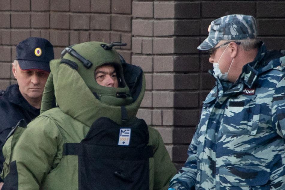 Geiselnahme in Moskau: Mann will Bankfiliale sprengen
