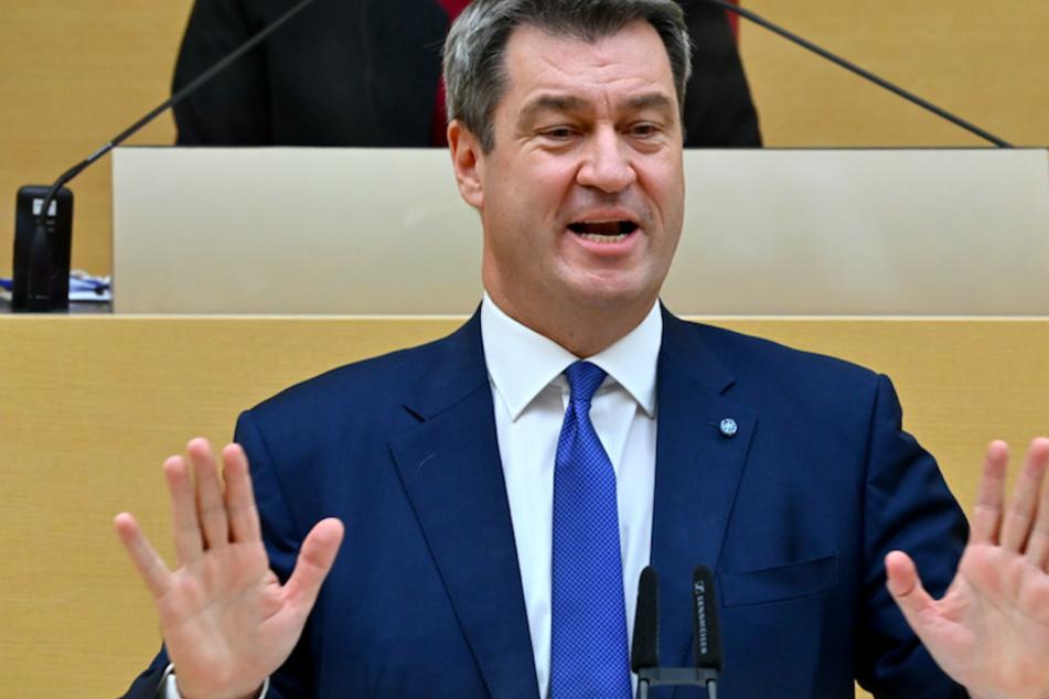 Markus Söder (53, CSU), Ministerpräsident von Bayern, im bayerischen Landtag.