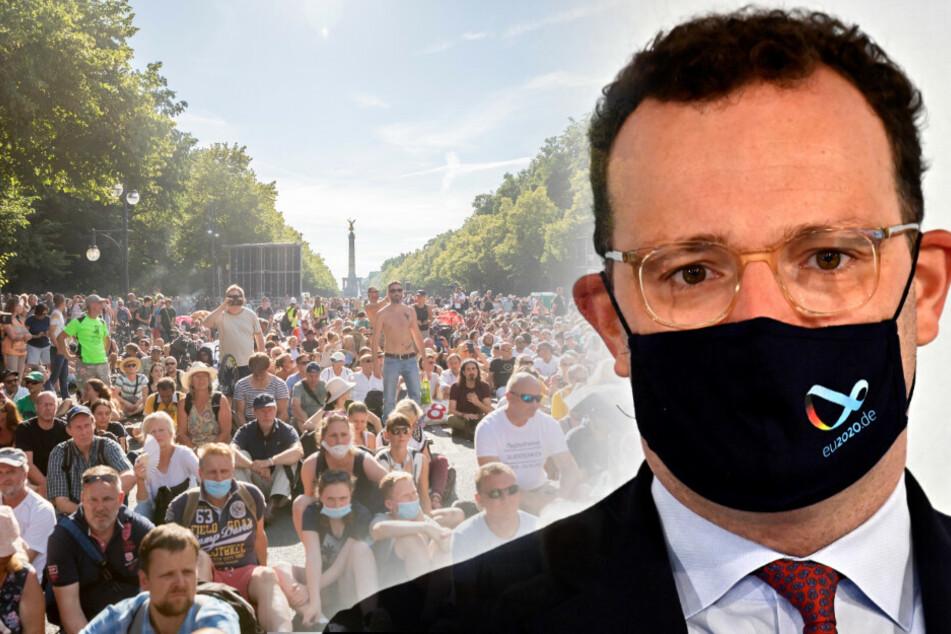 Jens Spahn hat die Massen-Demonstration in Berlin kritisiert.