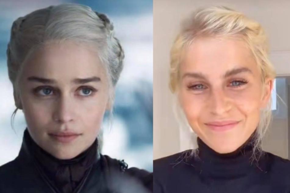 Verwechslungsgefahr: Links: Daenerys Targaryen, Rechts: Caro Daur.