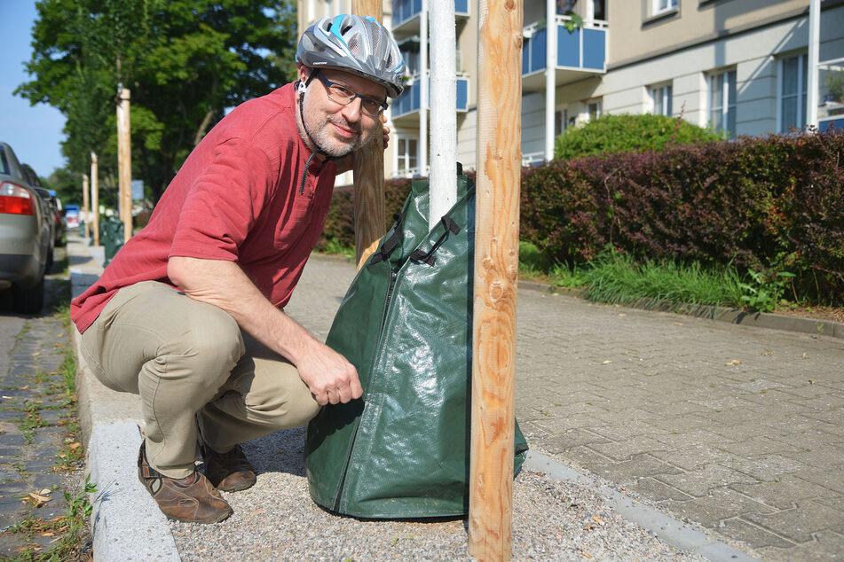 """Uwe Grüner, Mitbegründer von """"Parents For Future Chemnitz"""", macht sich für das Klima stark."""