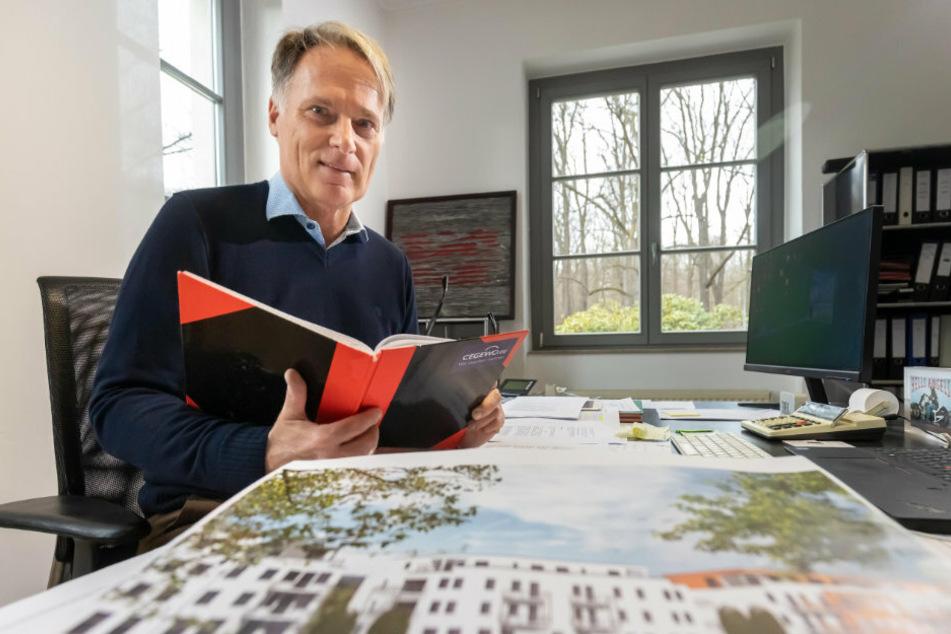 Cegewo-Chef Jens Kroll (59) verspricht modernes, ruhiges Wohnen für Familien, Singles und Senioren.