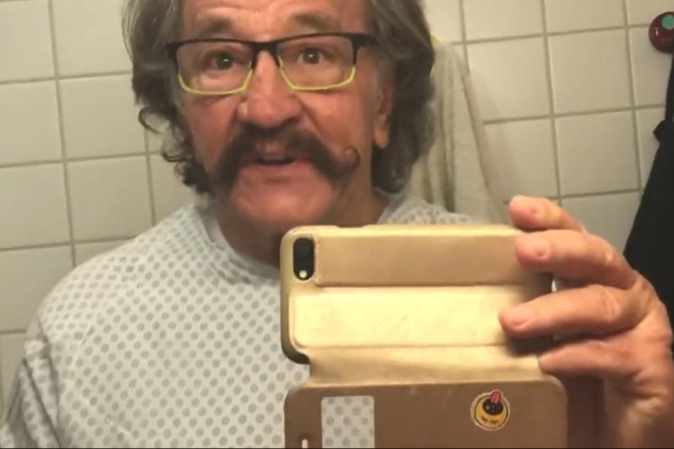 Einmal Entertainer, immer Entertainer: Bellmann postete noch kurz vor der OP ein Video auf Facebook.
