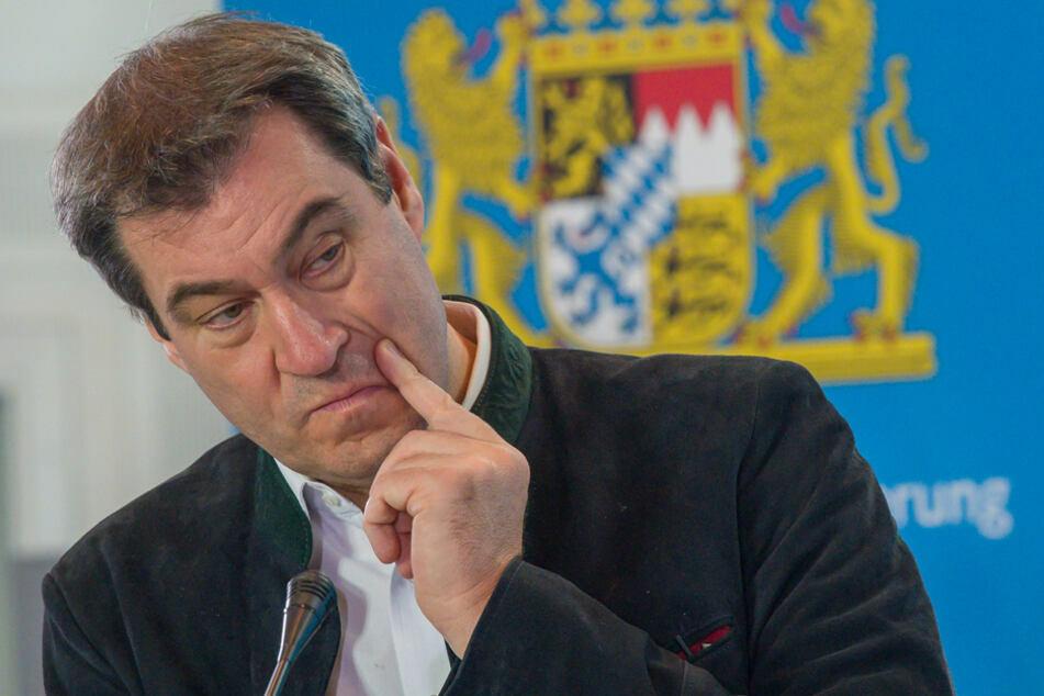 """Bayerns Ministerpräsident Markus Söder (54, CSU) bezeichnete die Corona-Warn-App im Oktober noch als """"Zahnlosen Tiger"""". (Archivbild)"""