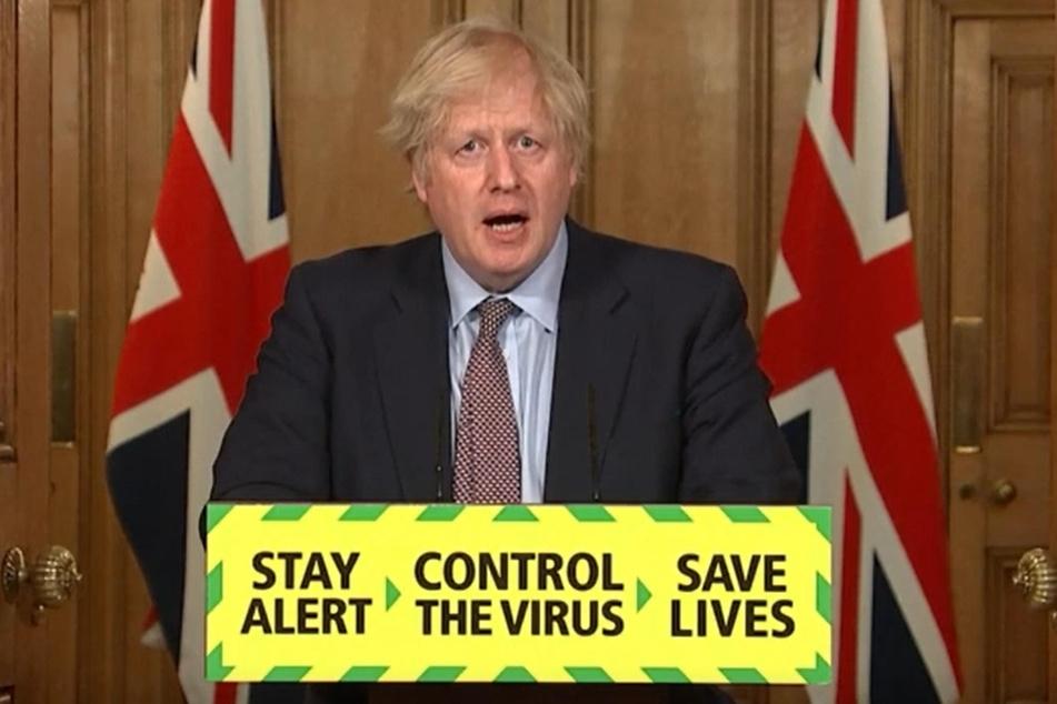 """Boris Johnson, Premierminister von Großbritannien, spricht im britischen Unterhaus bei den """"Prime Ministers Questions"""" (Fragen an den Premierminister)."""