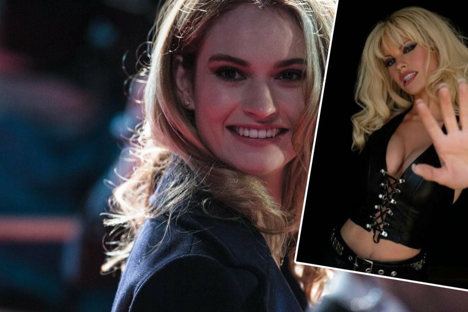 Heiße Bilder! Lily James als Pamela Anderson in der TV-Serie zum Sexvideo-Skandal