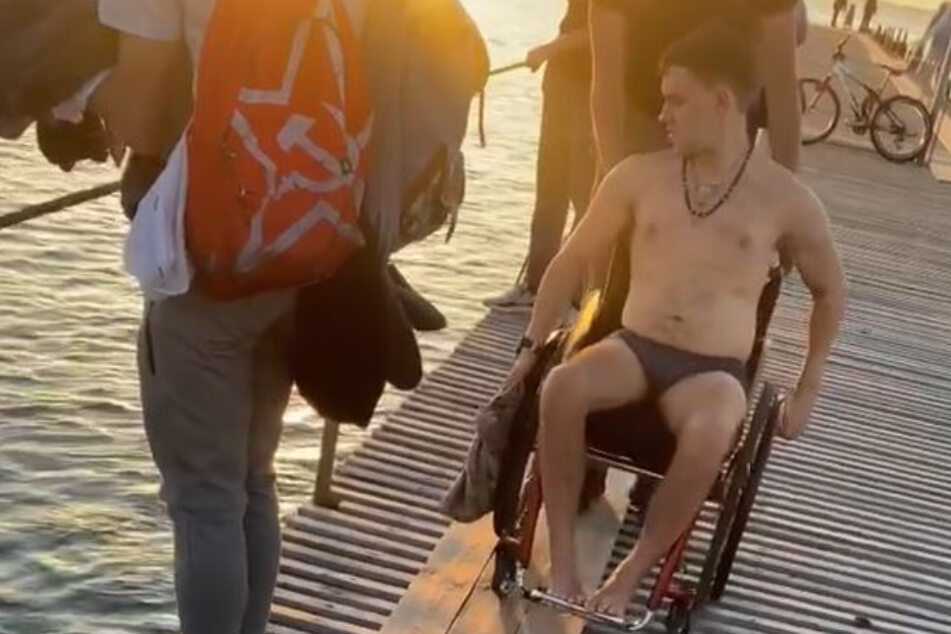 Nikita Vankov am Pier seines Unglücks.
