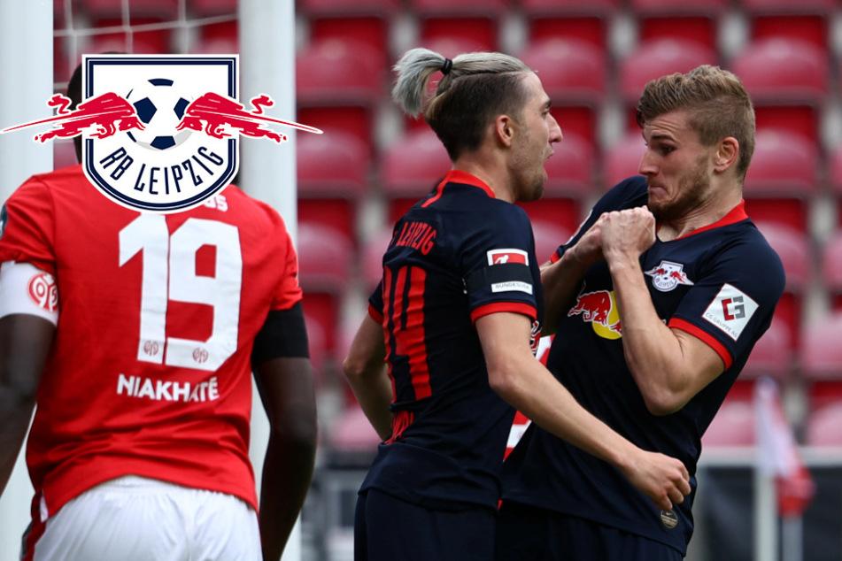 RB Leipzigs Timo Werner schreibt bei Mainz-Kantersieg Bundesliga-Geschichte