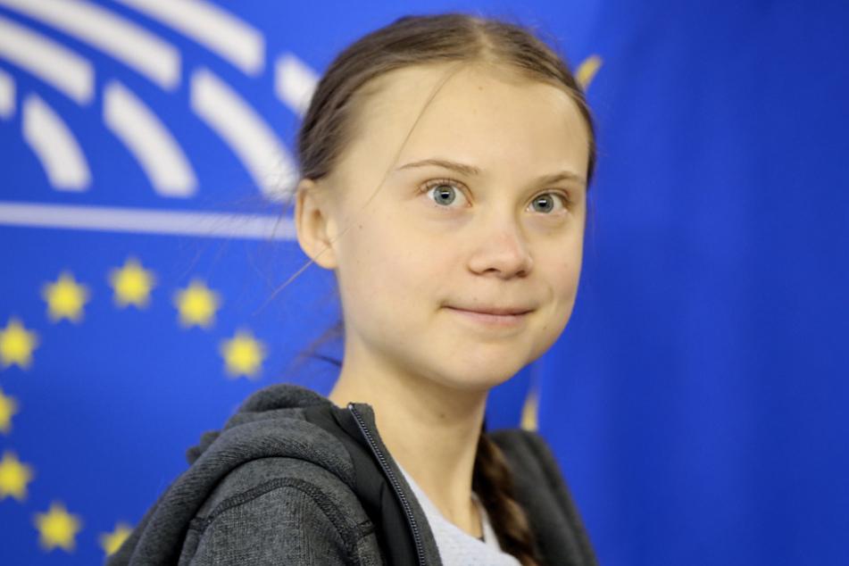 Greta Thunberg, schwedische Klimaaktivistin, kommt zu einer Sitzung des Umweltrates im Europäischen Parlament.