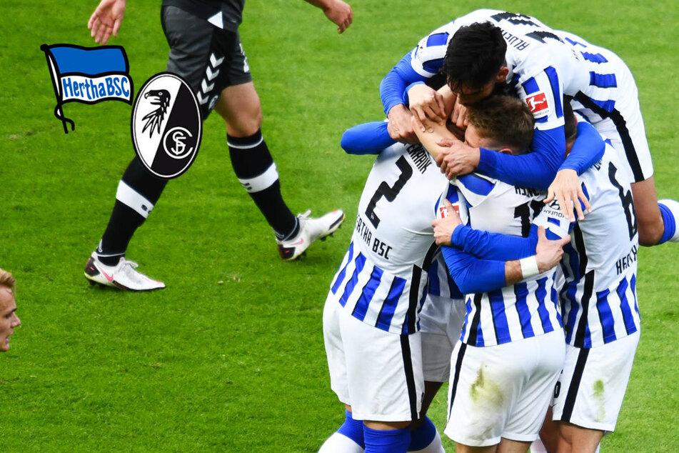 Hertha BSC krönt Corona-Aufholjagd und springt nach Sieg gegen Freiburg über den Strich