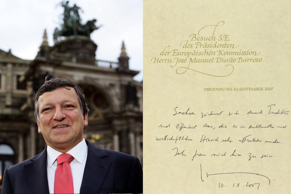 EU-Kommissionspräsident Jose Manuel Barroso verewigte sich 2007 auf Deutsch.