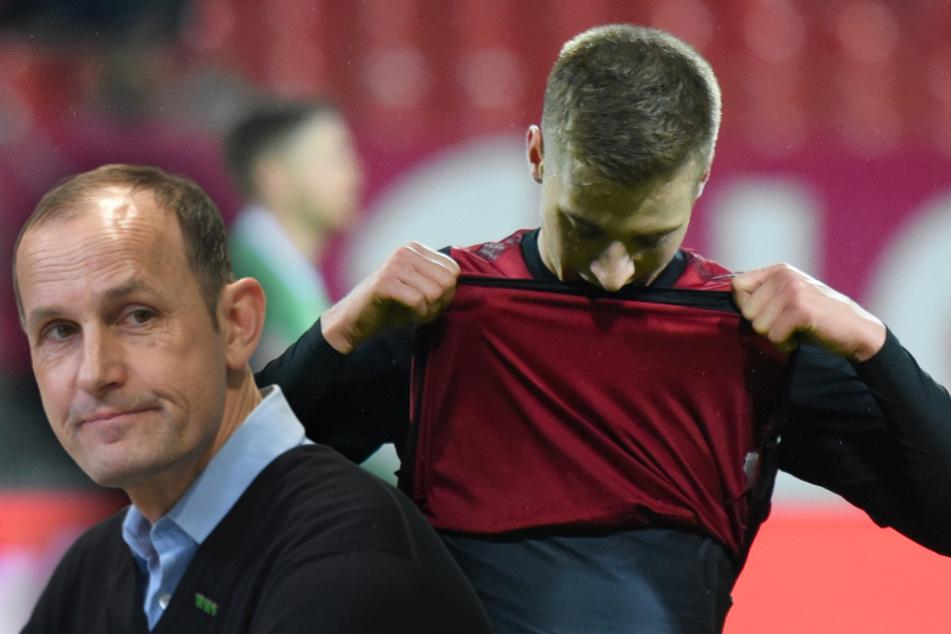 FC Augsburg neuer Cheftrainer Heiko Herrlich und Nürnbergs Fabian Nürnberger.