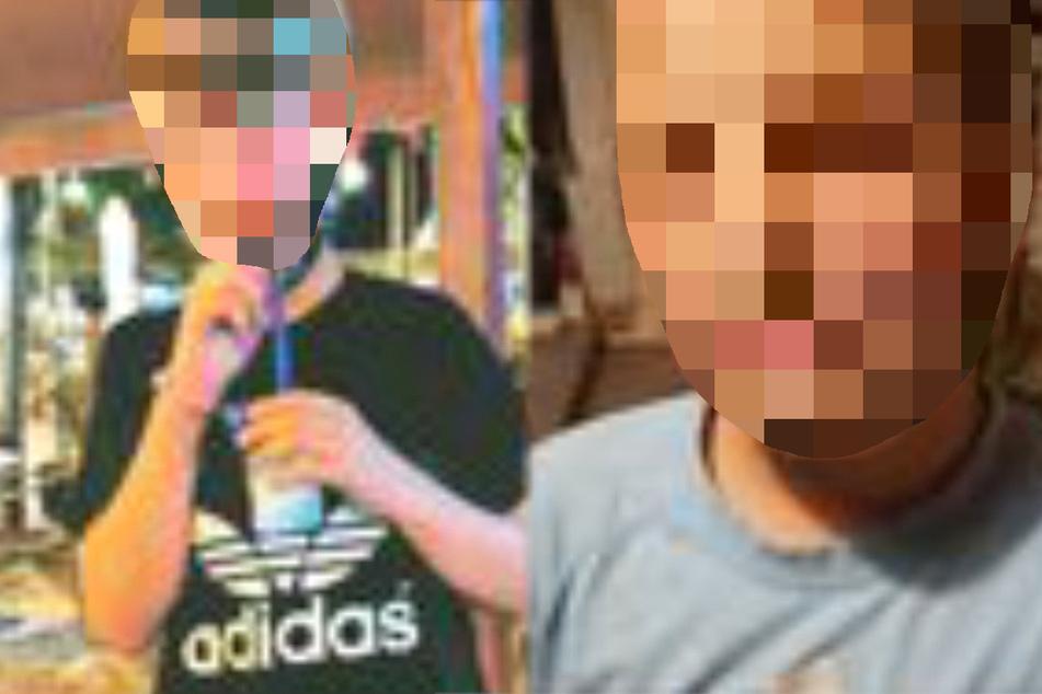 Die Montage zeigt links den achtjährigen Jerome und rechts den 14-jährigen Yason-Benjamin.