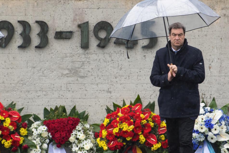 Gedenken an KZ-Befreiung: Markus Söder warnt vor Unterschätzung der Rechten