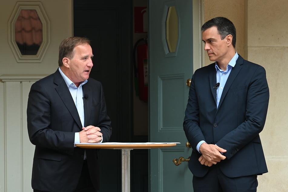 Der spanische Ministerpräsident Pedro Sanchez (r.) besucht aktuell seinen Amtskollegen aus Schweden, Stefan Löfven.