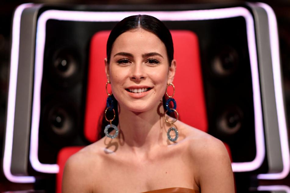 """Lena Meyer-Landrut (29) am Rande der Sendung """"The Voice Kids""""."""