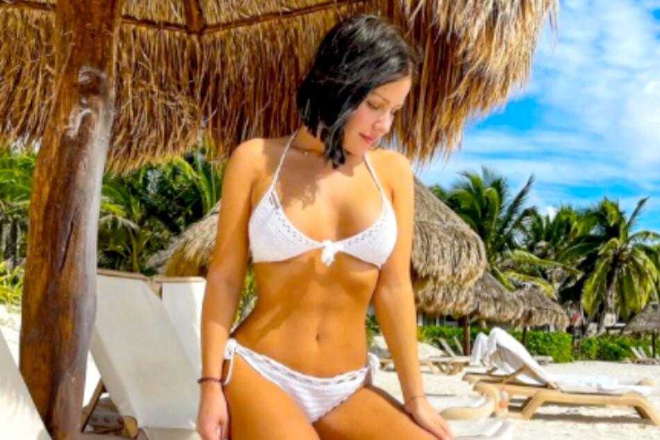 Mitten im Lockdown urlaubt Kim Gloss (28) in Mexiko.