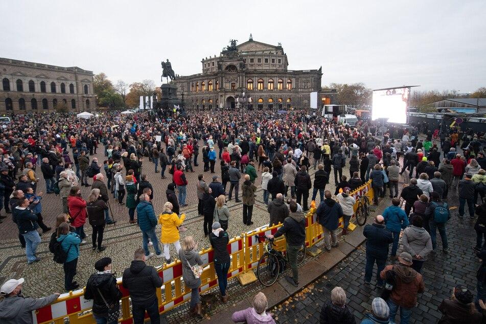"""Die letzte """"Querdenken""""-Demo in Dresden fand am 31. Oktober statt."""