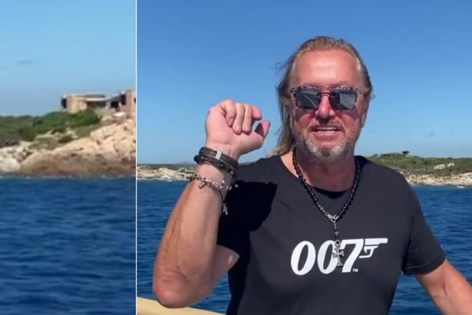 """Robert Geiss mit einem """"James Bond""""-Shirt und der Aufschrift """"007""""."""