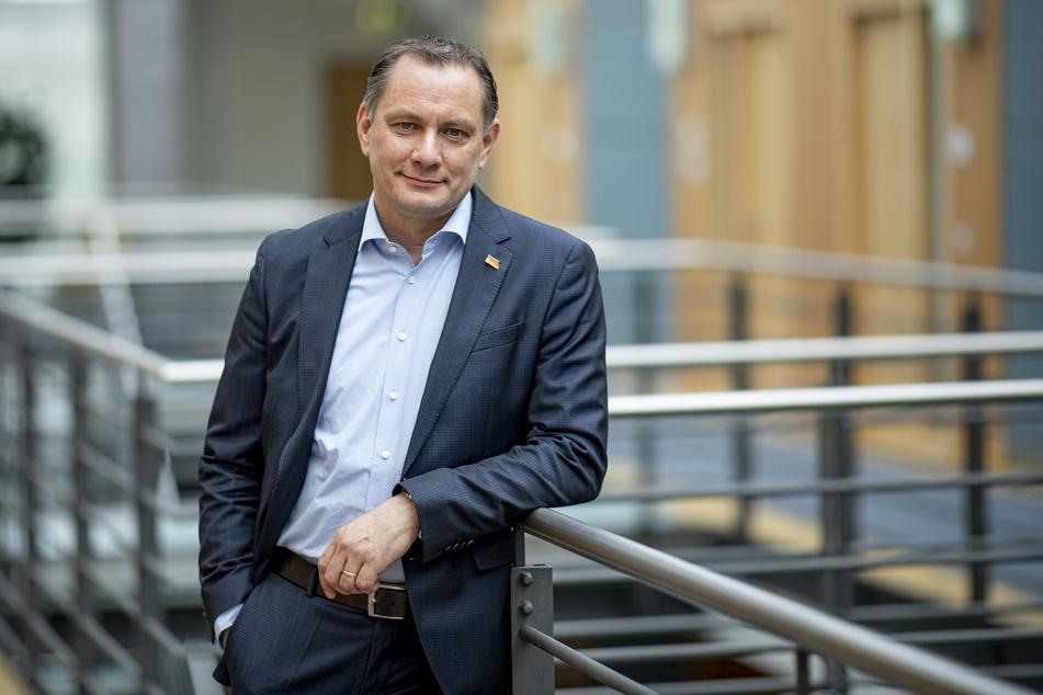 Tino Chrupalla (46, AfD), stellvertretender Vorsitzende der AfD-Bundestagsfraktion, hofft, dass die AfD mit Fundamentalkritik an den Corona-Maßnahmen punkten kann.