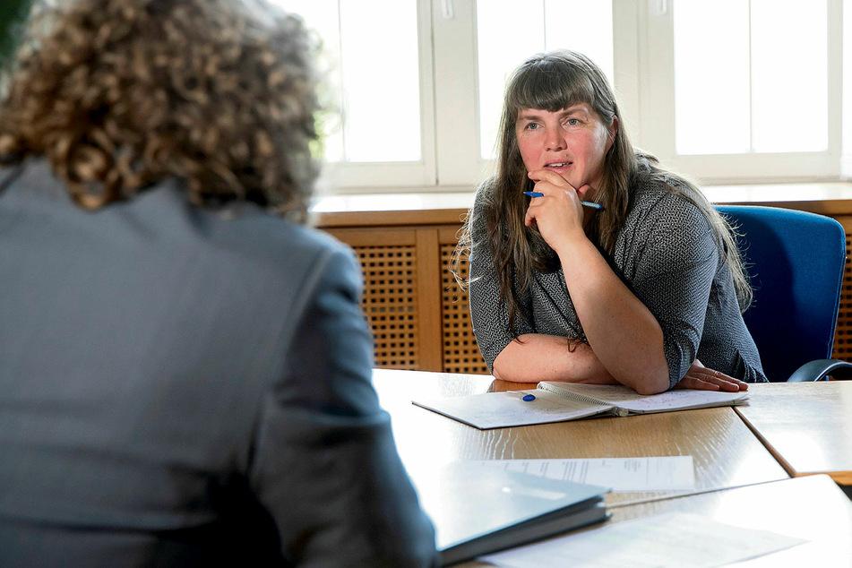 Der OB im Gespräch mit Redakteurin Pia Lucchesi.
