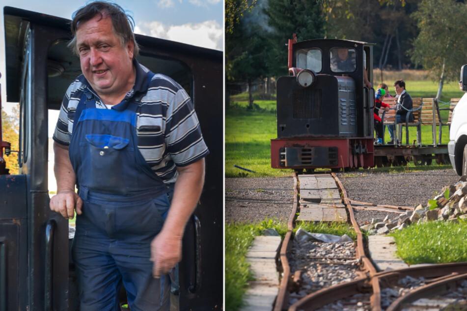 Erzgebirge: Dieser Opa baute für seine Enkel eine Bahnstrecke in den Garten