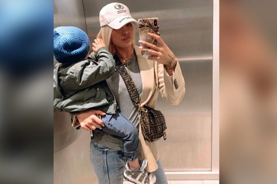 Sam hat bereits einen zweijährigen Sohn.