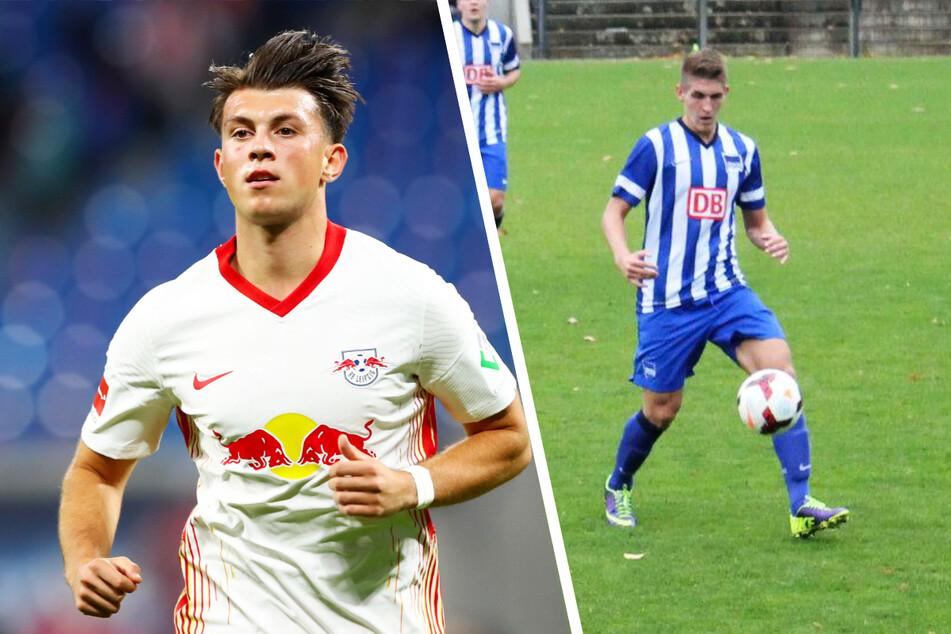 Lazar Samardzic (20, l.) konnte sich bei RB Leipzig nicht durchsetzen, kämpft aktuell bei Udinese Calcio um einen Platz in der ersten Elf. Robert Andrich (27, r.) war von 2003 bis 2015 Herthaner. Aktuell ist er bei Bayer 04 Leverkusen gesetzt.