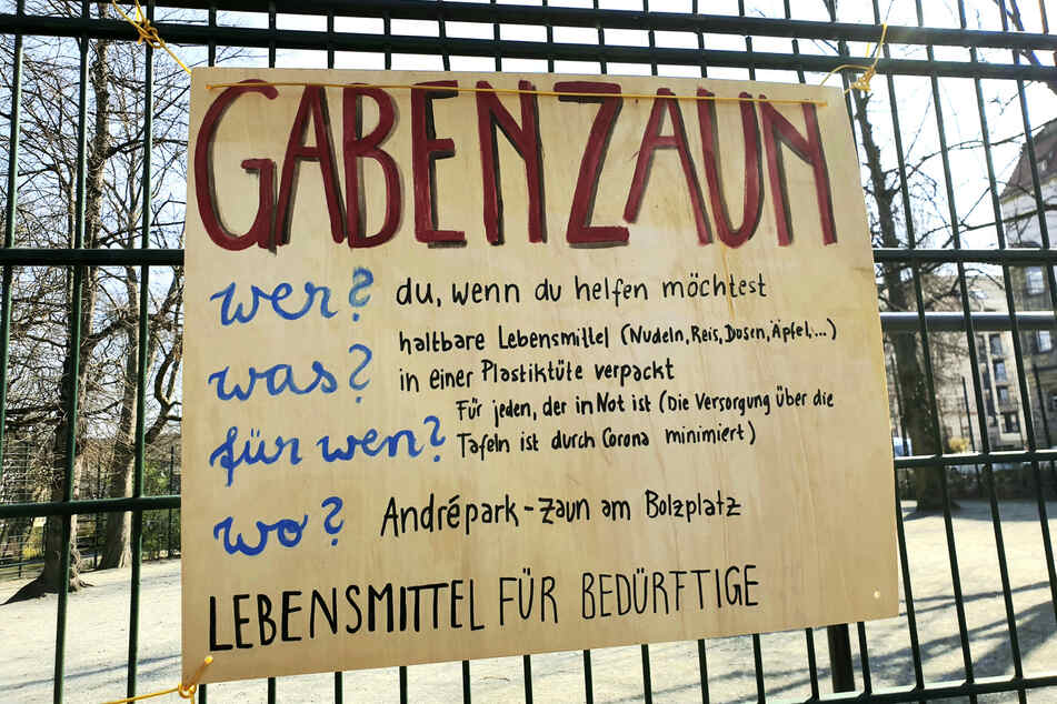 Gabenzaun auf dem Chemnitzer Kaßberg