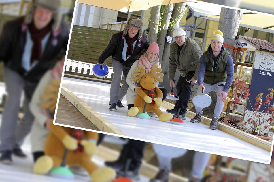 Dresden: Neu am Blauen Wunder: Eisstockschießen ganz ohne Eis
