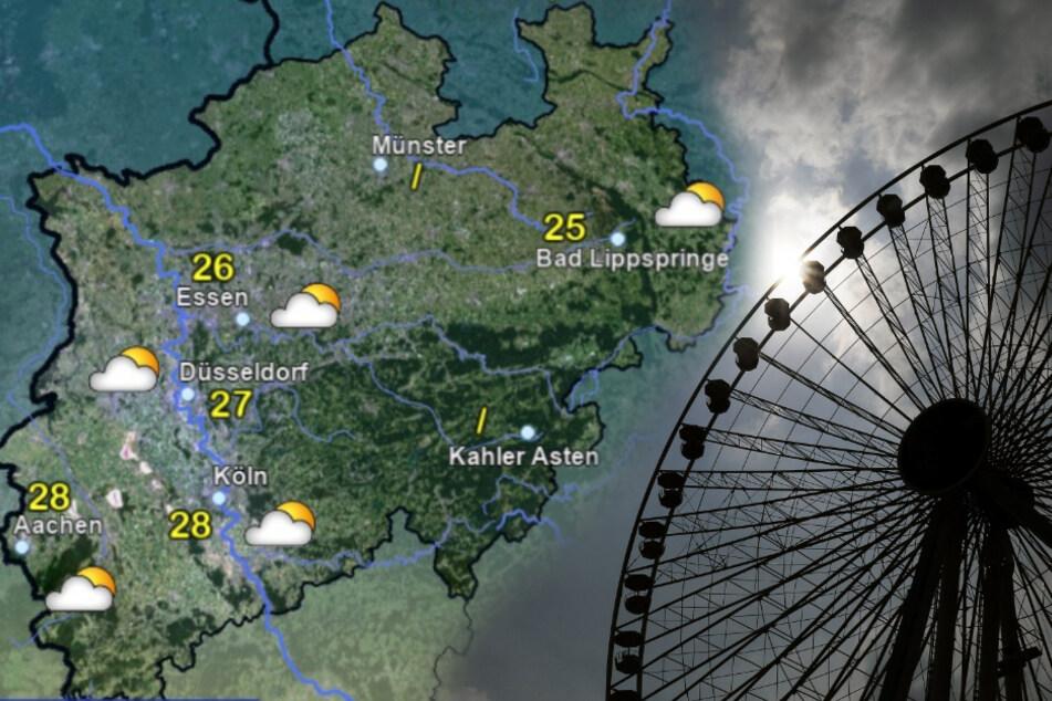 Die Wettervorhersage für den Wochenbeginn. (Fotomontage)