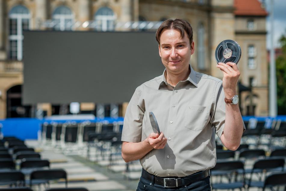 """Stadthistoriker Sandro Schmalfuß (41) zeigt kommenden Samstag den Film """"Karl-Marx-Stadt - Exquisit""""."""