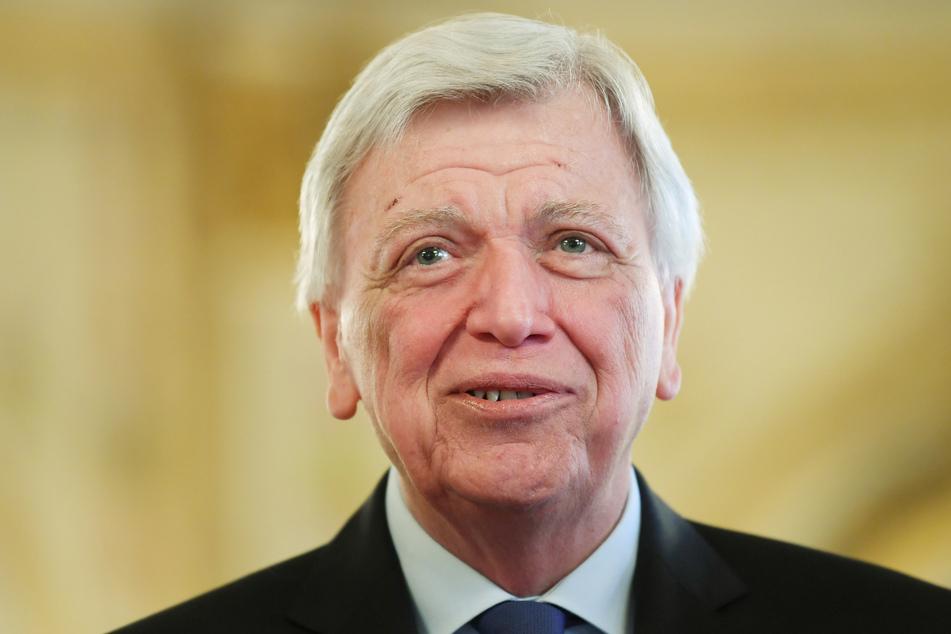 Volker Bouffier (CDU, 68), Ministerpräsident des Landes Hessen, nimmt an der Begrüßung des Hessentagspaars im Hessischen Landtag teil.