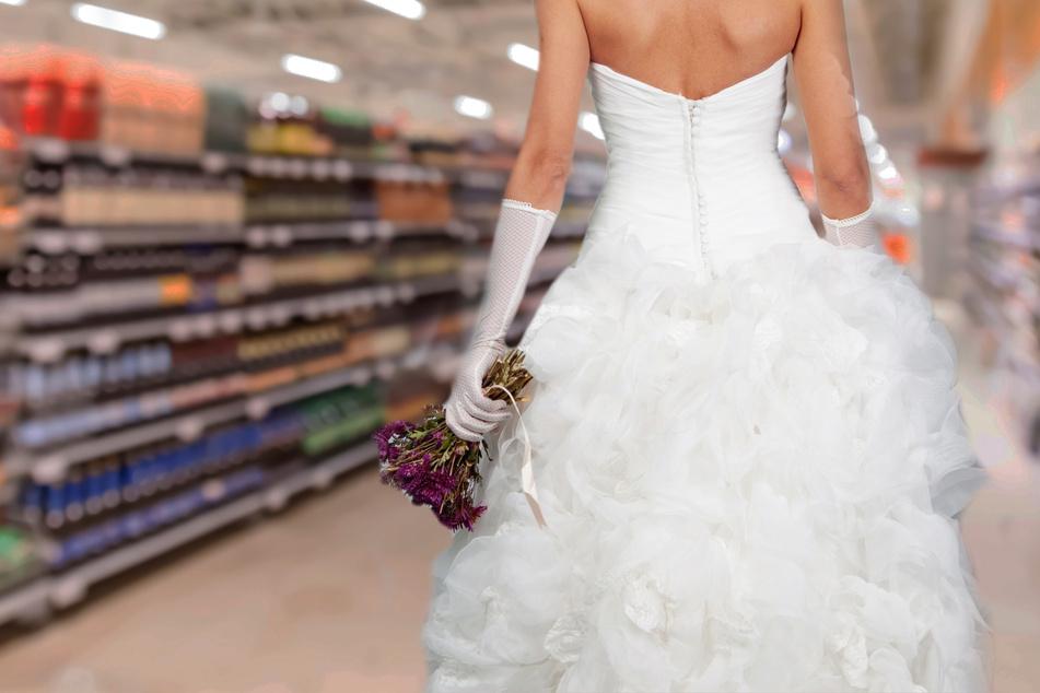 Ganz schön ungeduldig: Eine junge Frau wollte partout nicht mehr auf ihren Verlobten warten. (Symbolbild & Montage)