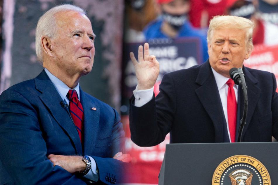 Der Demokrat Joe Biden (77, l.) oder der Republikaner Donald Trump (74): Am kommenden Dienstag wählen die US-Amerikaner einen neuen oder ihren alten Präsidenten.