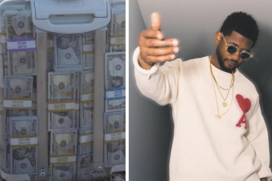 Usher caught making it rain with fake dollar bills in a strip club