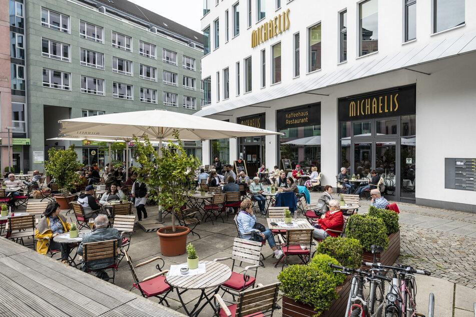 Statt die City-Lokale zu stürmen, gingen es die Chemnitzer etwas langsamer an.
