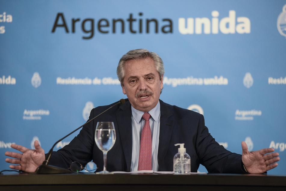 Argentiniens Präsident Alberto Fernández (61). (Archivbild)