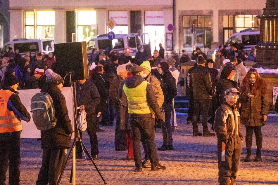 Mehrere Demonstrationen gegen Corona-Maßnahmen in Sachsen
