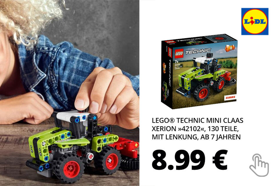 """LEGO® Technic Mini Claas Xerion """"42102"""", 130 Teile, mit Lenkung, ab 7 Jahren"""