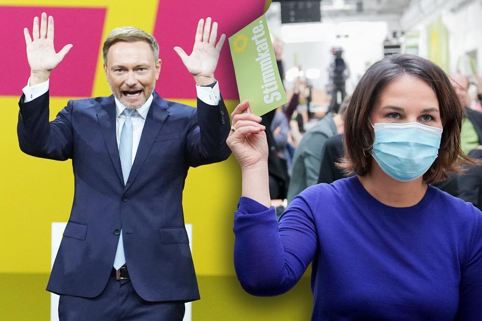"""Grüne und FDP schwören aufs Wahlkampf-Finale ein: """"Wir kämpfen jetzt mit allem, was wir haben"""""""